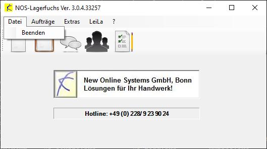 Hauptmenü - Datei